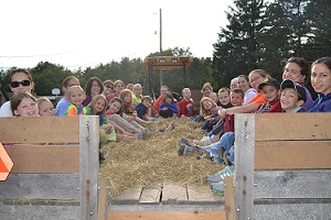 Enjoy a wagon Hayride!